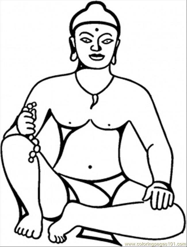 Buddha Coloring Page Free India Coloring Pages