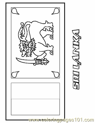 Sri Lanka Coloring Page Free Flags Coloring Pages