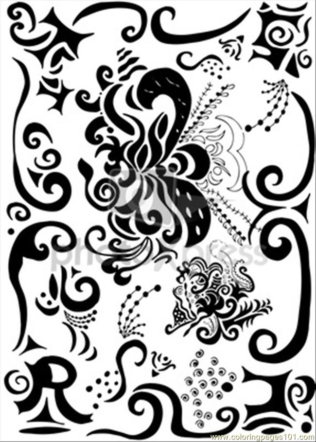 Es Pretty Decoration O Coloring Page Free Decorations