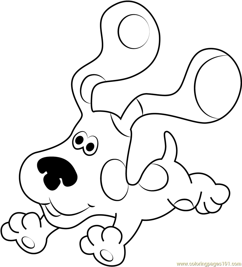 blue clues coloring page  free blue's clues coloring