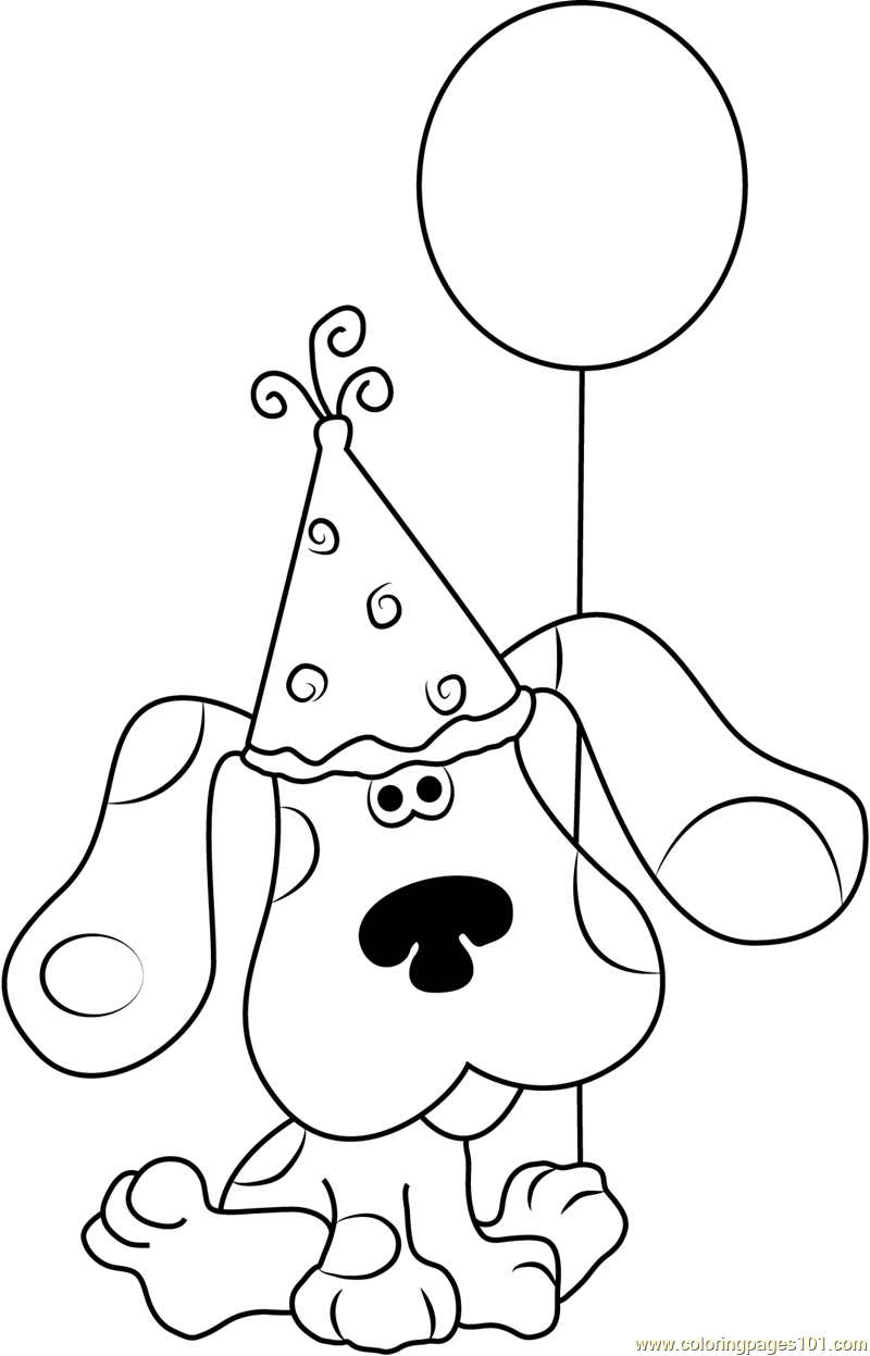 Happy Birthday Blue Clues Coloring Page Free Blue