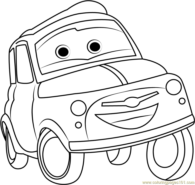 Luigi Coloring Page Free Cars Coloring Pages