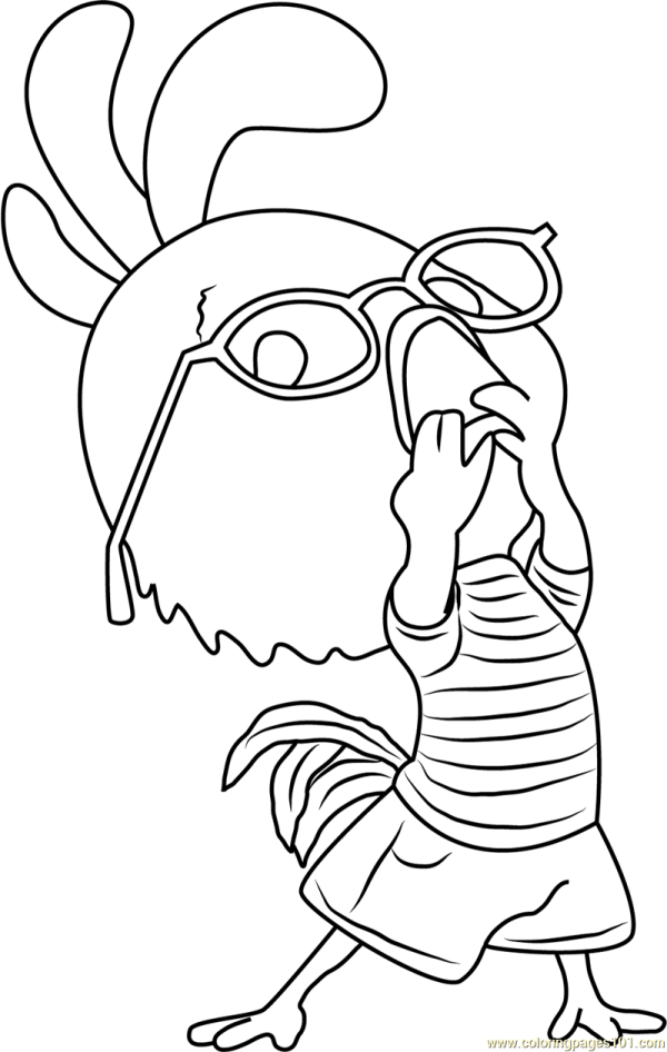 Chicken Little Funny Coloring Page - Free Pages