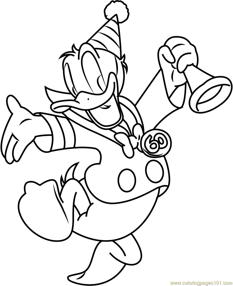 Donald Duck Dancing Coloring Pages Coloring Pages