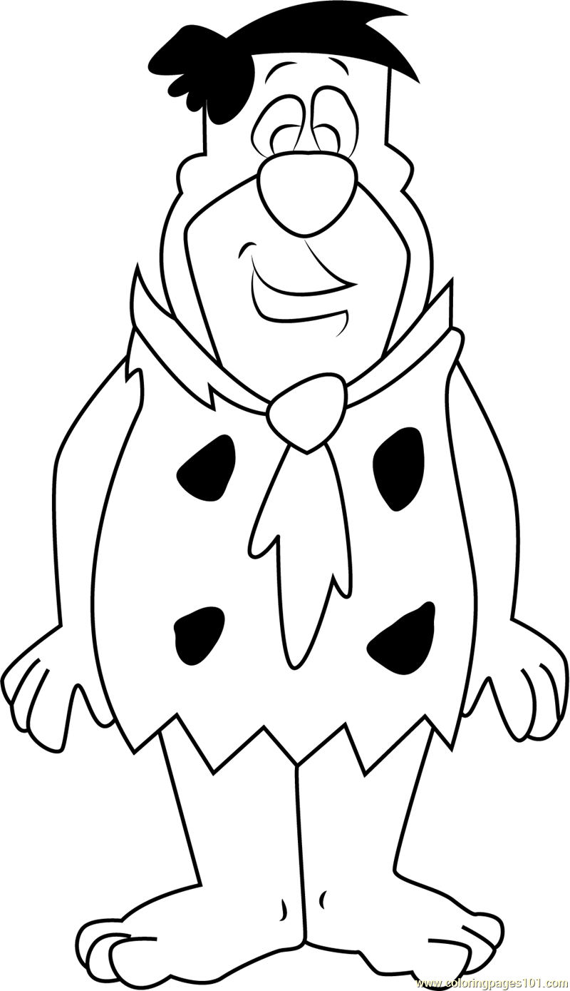 Fred Flintstones Looking At You Coloring Page Free Fred