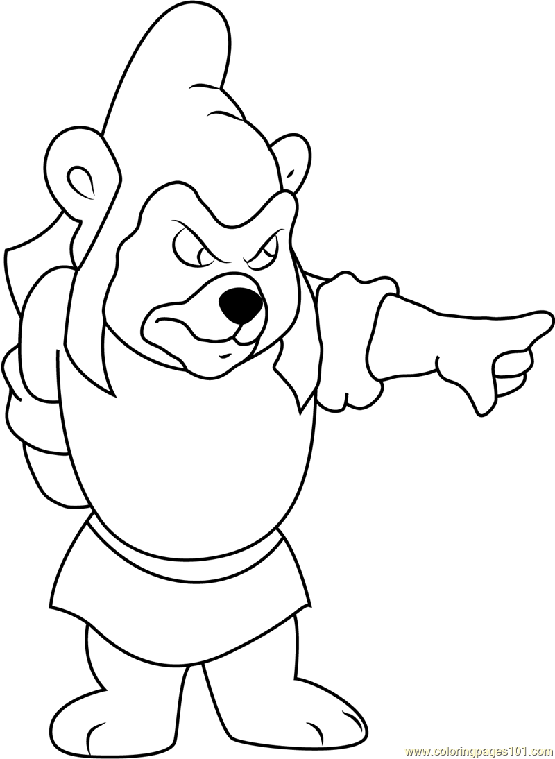 Gummy Bears Coloring Page Free Disney