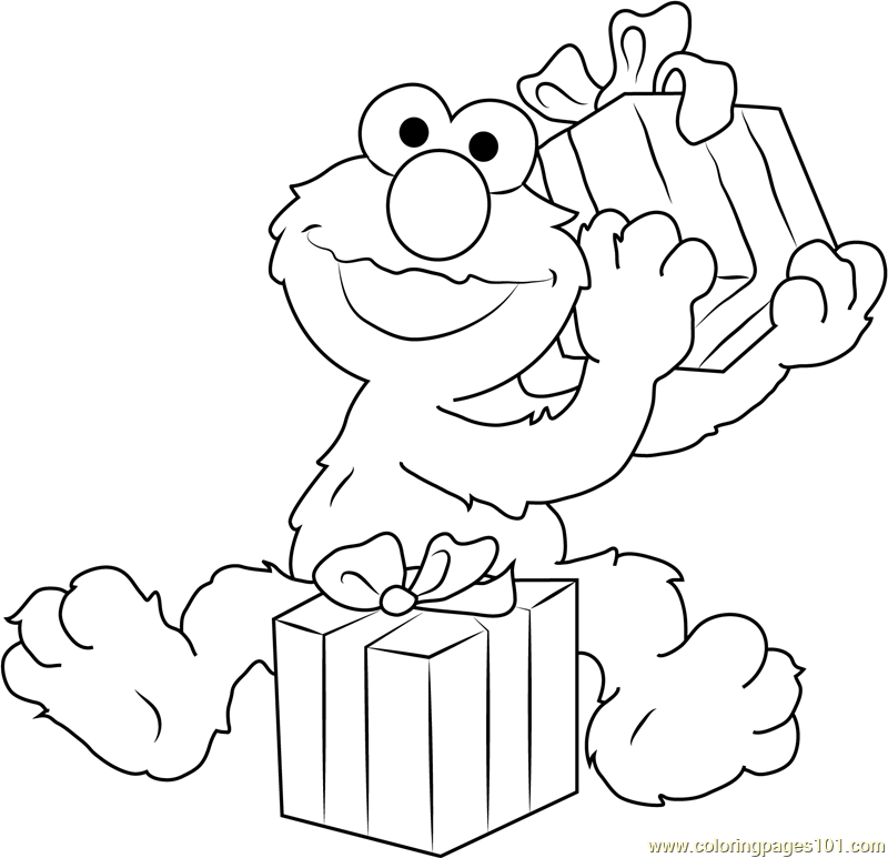 Happy Birthday Elmo Coloring Page Free Sesame Street Coloring Pages Coloringpages101 Com