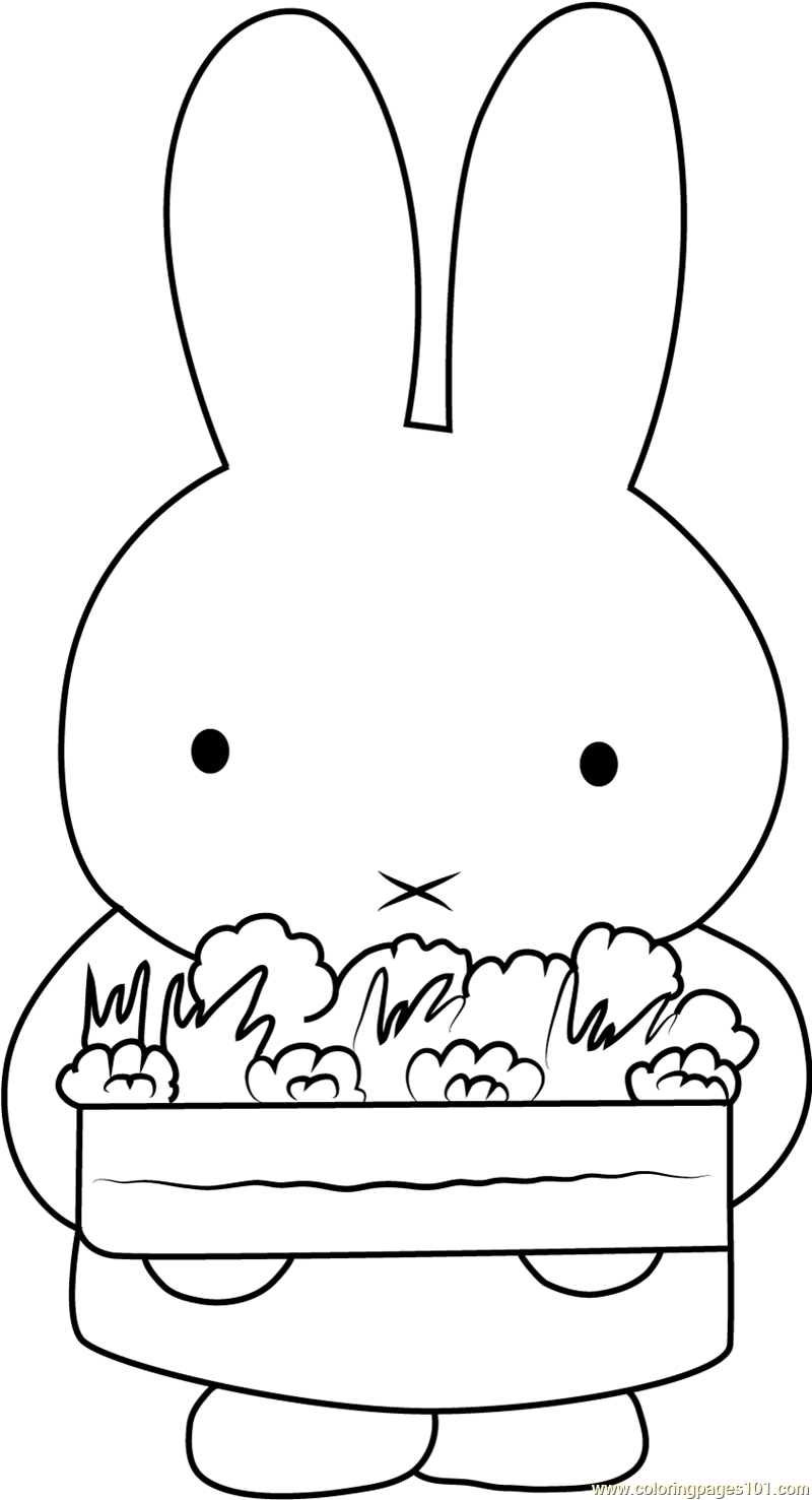Miffy Says I Love You Coloring Page Free Miffy Coloring Pages