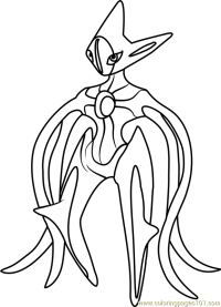 √ Deoxys Coloring Page   Deoxys