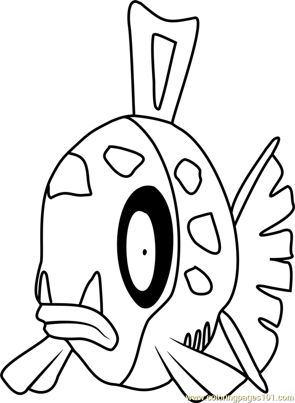 Feebas Pokemon Coloring Page Free Pokmon Coloring Pages