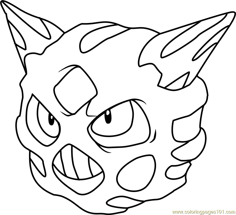 Glalie Pokemon Coloring Page Free Pokmon Coloring Pages