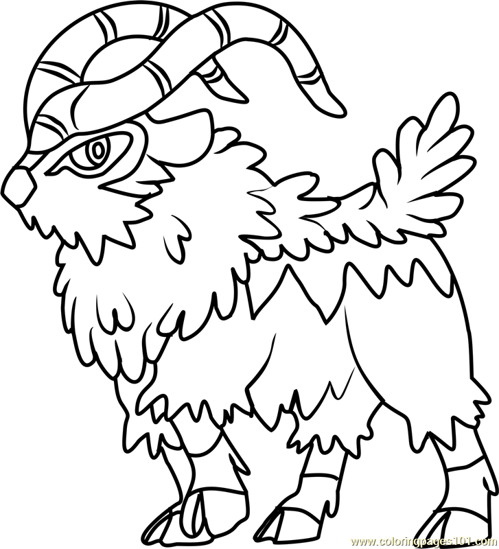 Gogoat Coloring Page