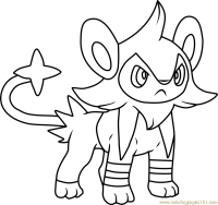 Luxio Pokemon Coloring Page - Free Pokmon Coloring Pages ...