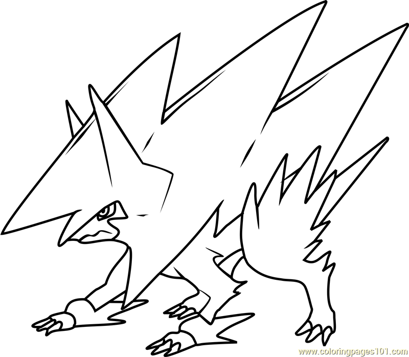 Mega Manectric Coloring Pages Coloring Pages