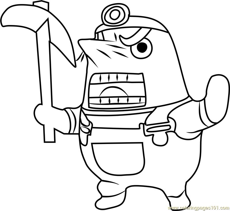 Sonny Resetti Animal Crossing Coloring Page Free Animal
