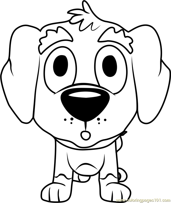 Pound Puppies Corky Coloring Page Free Pound Puppies