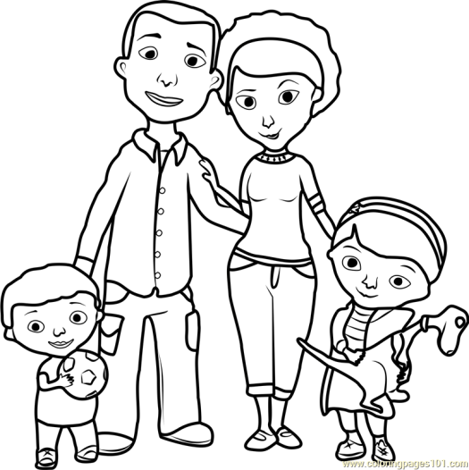 Family Coloring Pages Online