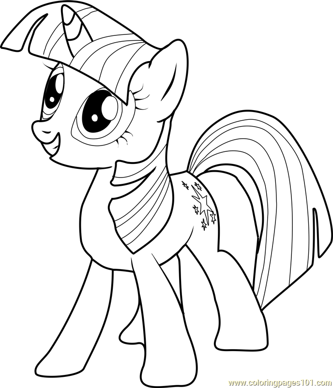 twilight sparkle coloring page  free my little pony