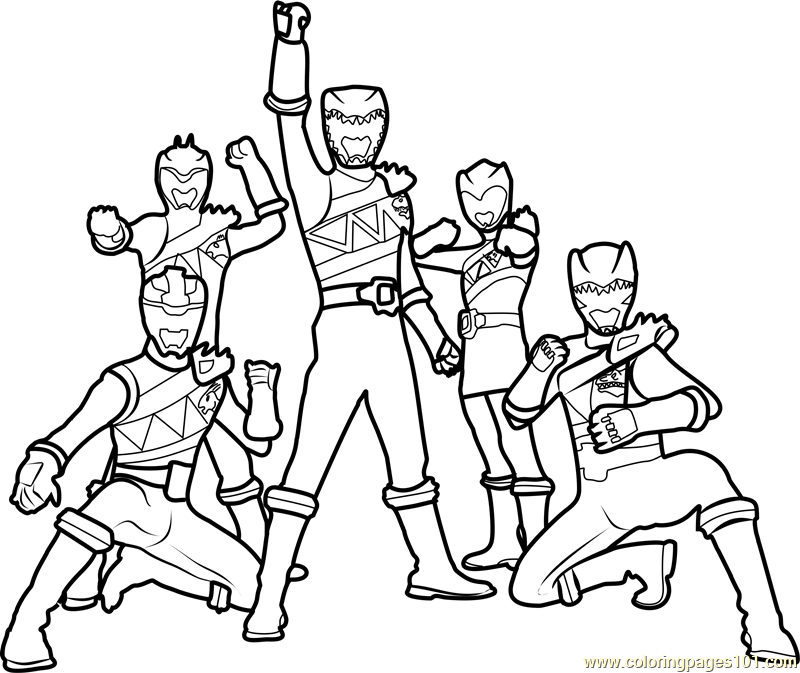 Power Rangers Dino Charge Coloring Page Free Power