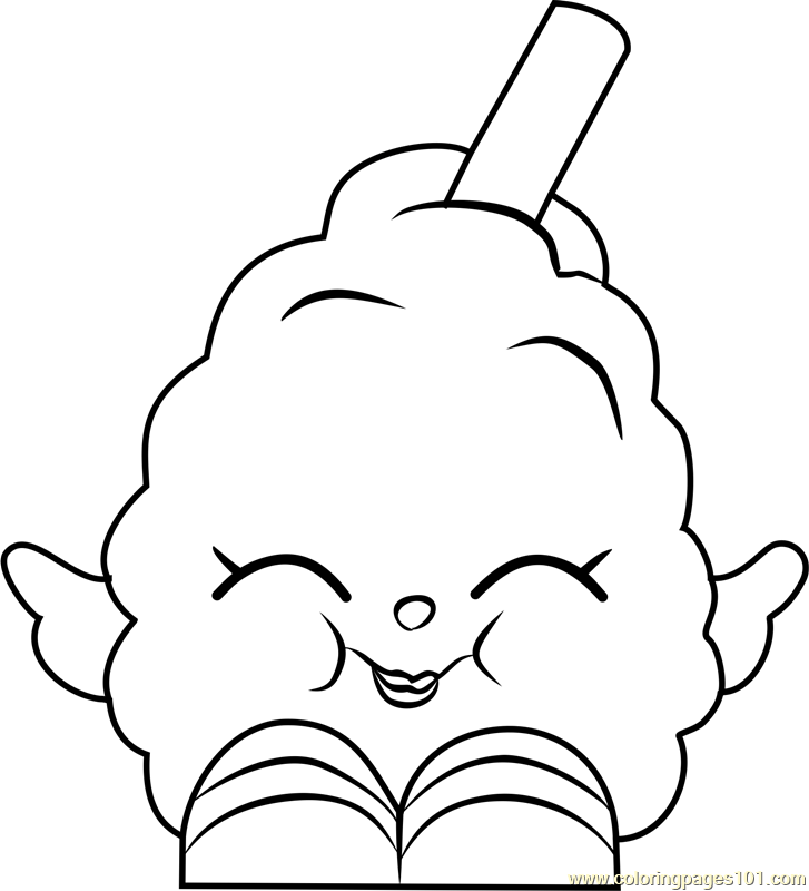 Gambar Breaky Crunch Shopkins Coloring Page Free Pages