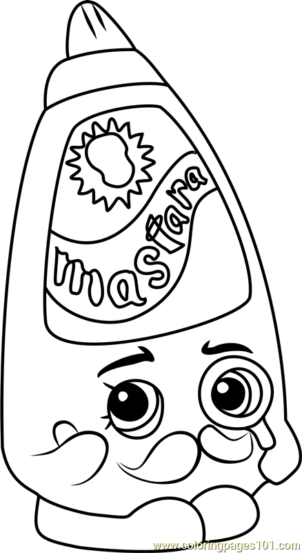 Cornell Mustard Shopkins Coloring Page  Free Shopkins Coloring Pages  ColoringPages101com