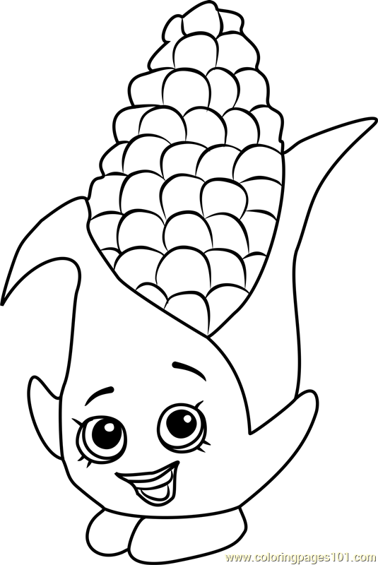 Corny Cob Shopkins Coloring Page Free Shopkins Coloring