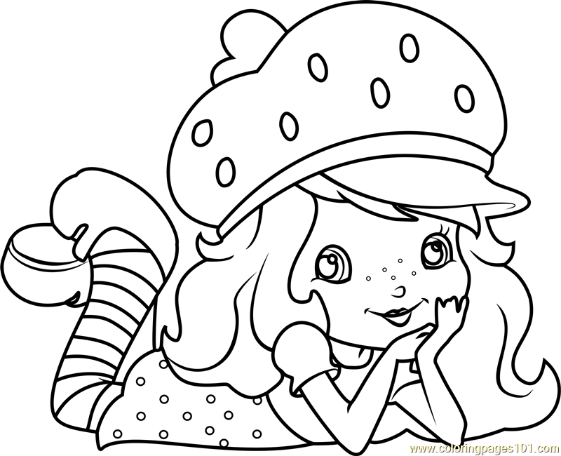 Cute Strawberry Shortcake Coloring Page Free Strawberry Shortcake Coloring Pages Coloringpages101 Com