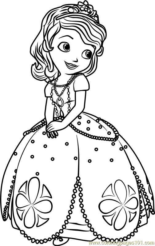 Princess Sofia Coloring Page Free Sofia The First Coloring Pages Coloringpages101 Com