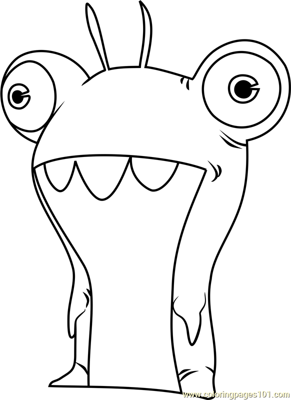 Bubbaleone Coloring Page  Free Slugterra Coloring Pages