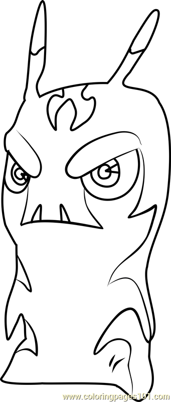 Free Printable Coloring Page Of Gazzer From Slugterra