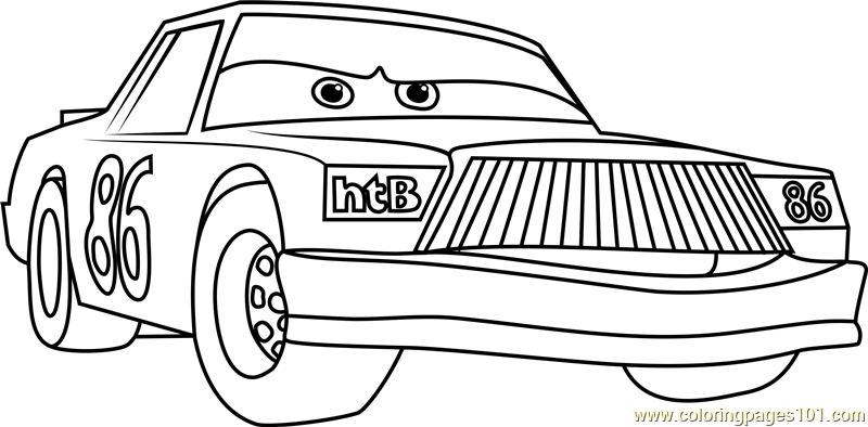 Chick Hicks From Cars 3 Coloring Page Free Cars 3 Coloring Pages Coloringpages101 Com