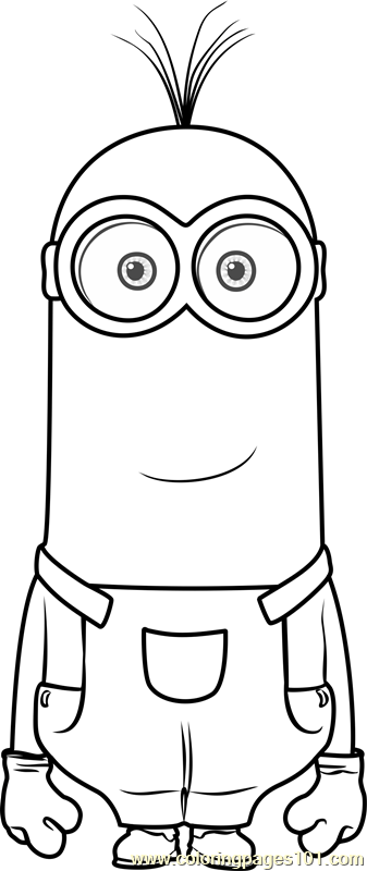 Kevin Coloring Page Free Minions Coloring Pages