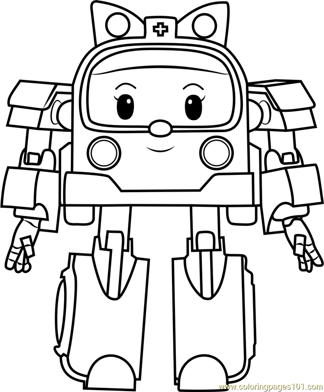 Amber Coloring Page Free Robocar Poli Coloring Pages