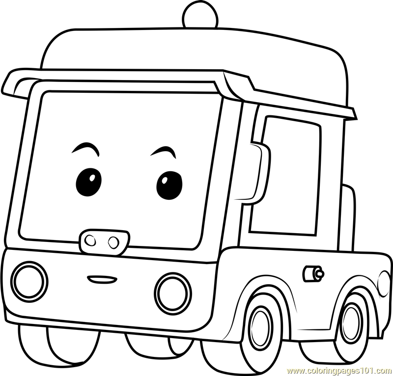 Beny Coloring Page Free Robocar Poli Coloring Pages