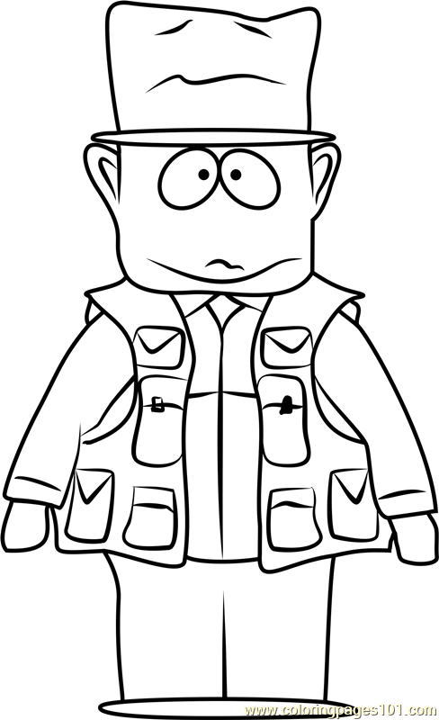 Jimbo Kern From South Park Coloring Page Free South Park