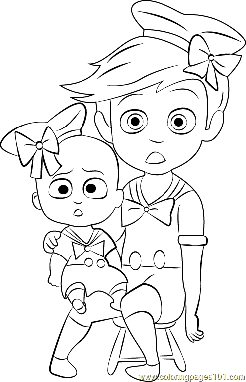 Boss Baby Costume Coloring Page Free The Boss Baby Coloring Pages Coloringpages101 Com