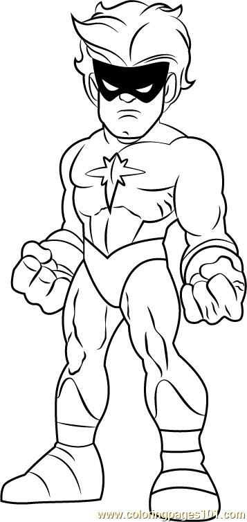 Captain Marvel Coloring Page Free The Super Hero Squad
