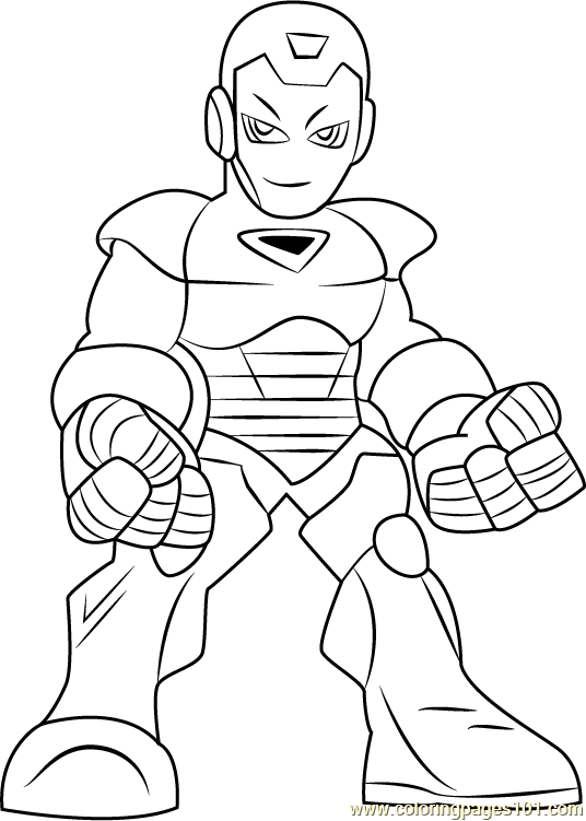 Iron Man Coloring Page Free The Super Hero Squad Show