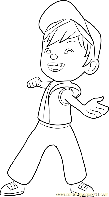 Boboiboy Fire Coloring Page Free Pages