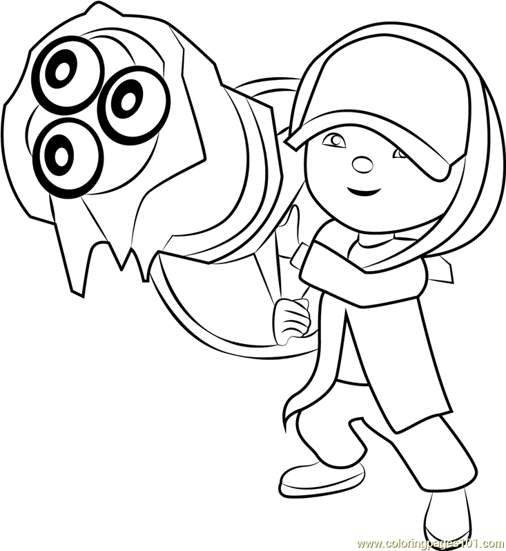 Boboiboy Ice Coloring Page Free Pages