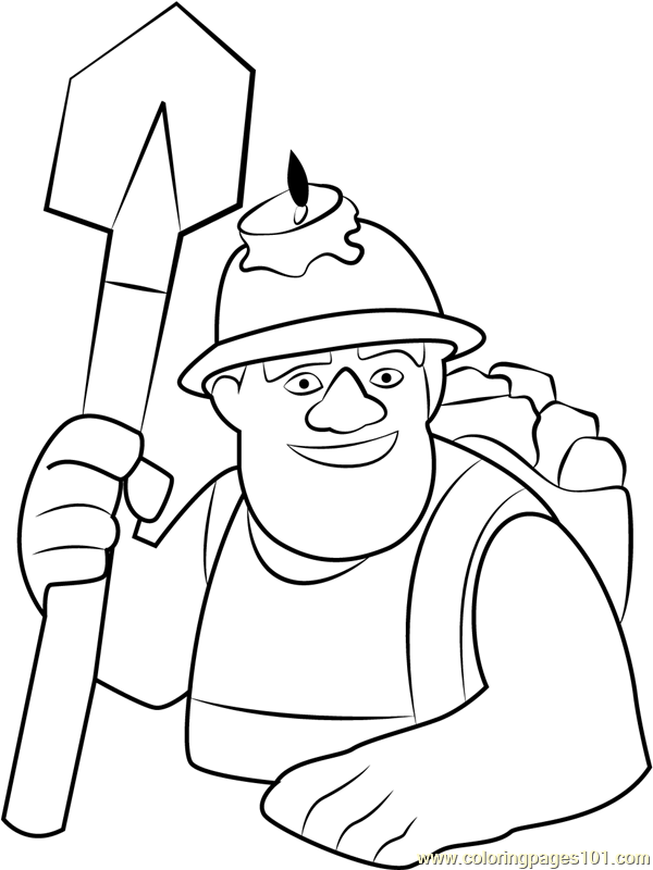 Clash Of Clans Coloring Pages Sketch Coloring Page