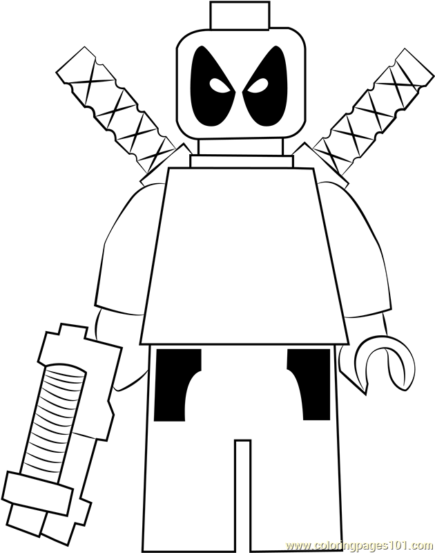 Lego Deadpool Coloring Page Free Lego Coloring Pages