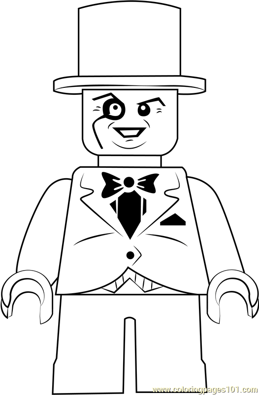 Lego The Penguin Coloring Page Free Lego Coloring Pages