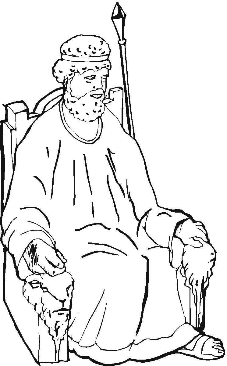Coloring Page Esther Bible Story