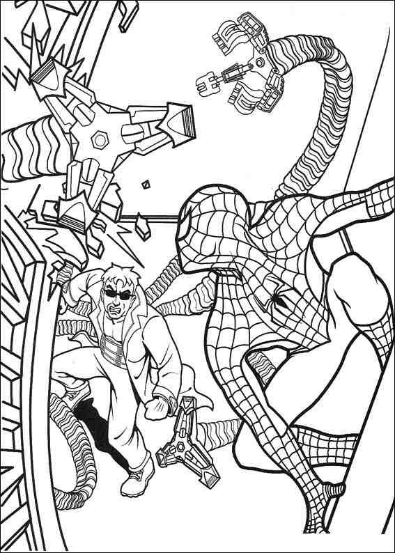 Spiderman 056 coloring page