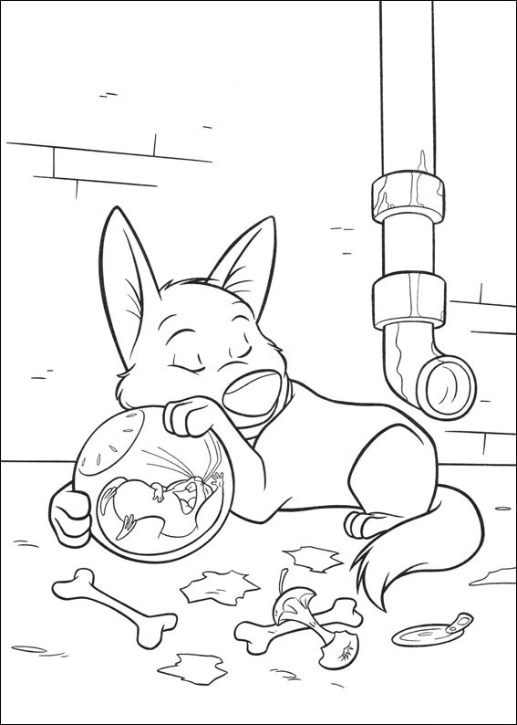 bolt sleeping coloring page
