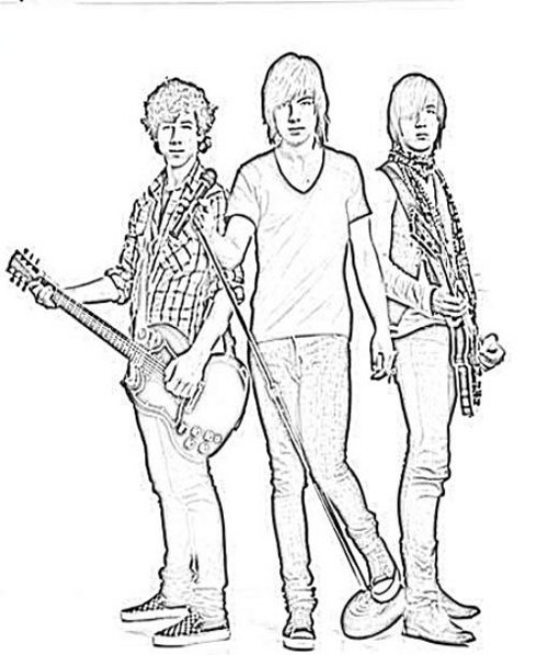 Jonas Brothers 4 coloring page