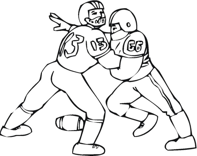 Coloring Pages Of Football Players Tackling Coloring Pages