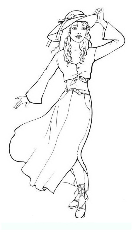 fashion_6 Teens and adults coloring pages