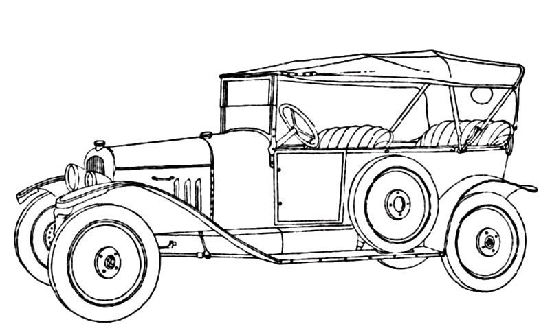 vintage_cars_22 Adult coloring pages